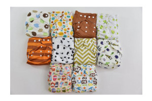 10 Pack Pocket Cloth Diapers